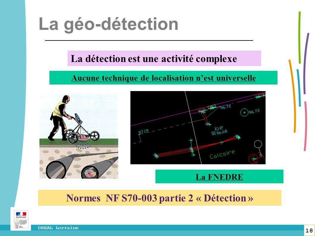La géo-détection La détection est une activité complexe