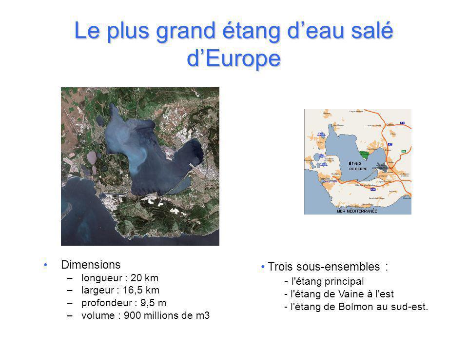 Le plus grand étang d'eau salé d'Europe