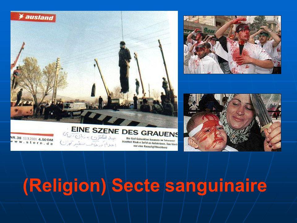 (Religion) Secte sanguinaire