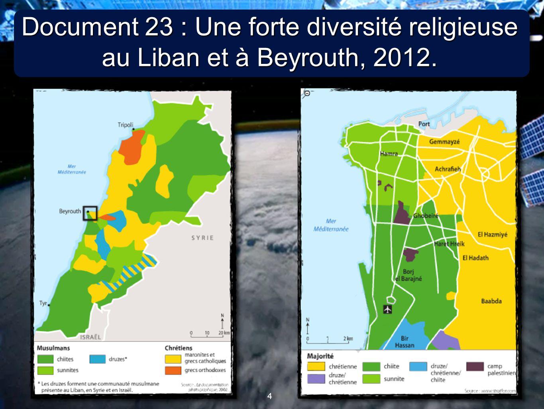 Document 23 : Une forte diversité religieuse au Liban et à Beyrouth, 2012.
