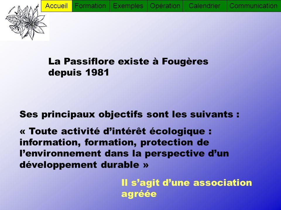 La Passiflore existe à Fougères depuis 1981