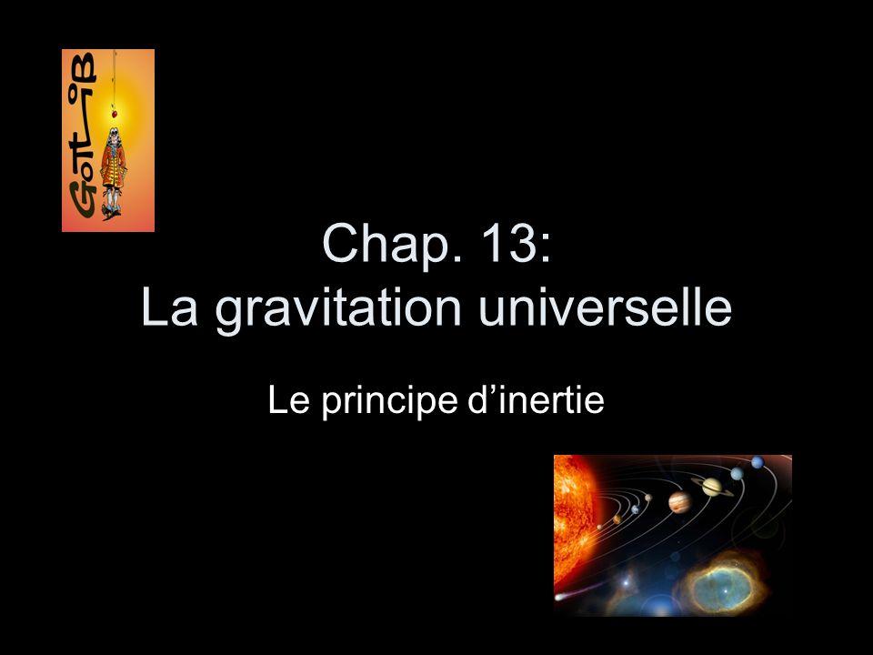 Chap. 13: La gravitation universelle