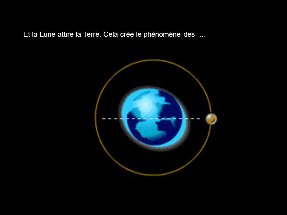 Et la Lune attire la Terre. Cela crée le phénomène des …