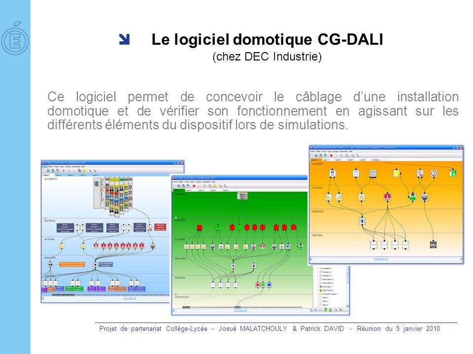 Le logiciel domotique CG-DALI (chez DEC Industrie)