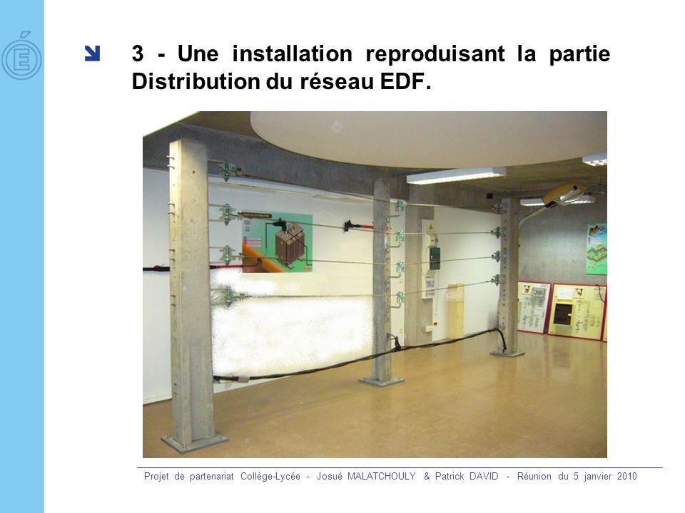 3 - Une installation reproduisant la partie Distribution du réseau EDF.