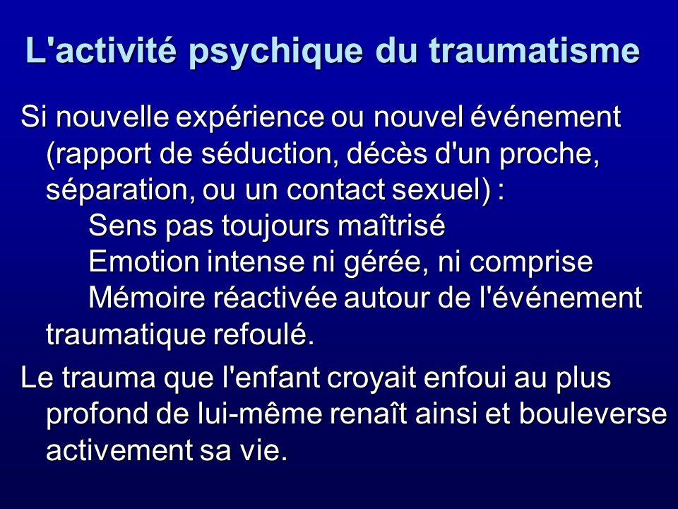 L activité psychique du traumatisme