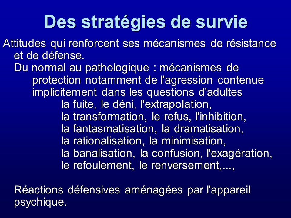 Des stratégies de survie