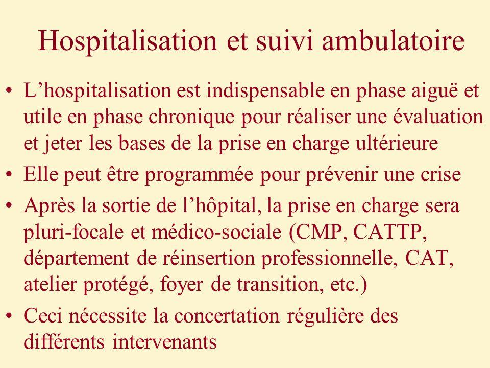 Hospitalisation et suivi ambulatoire