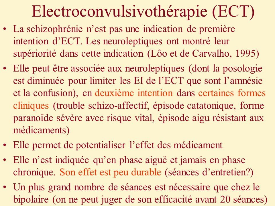 Electroconvulsivothérapie (ECT)