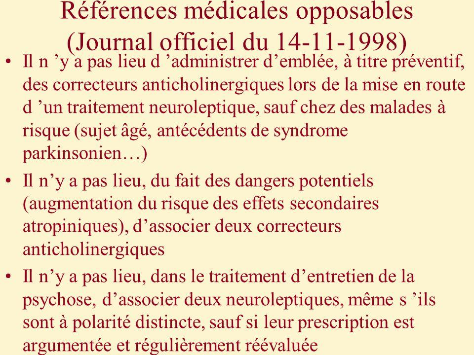 Références médicales opposables (Journal officiel du 14-11-1998)