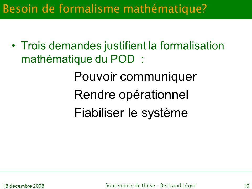 Besoin de formalisme mathématique