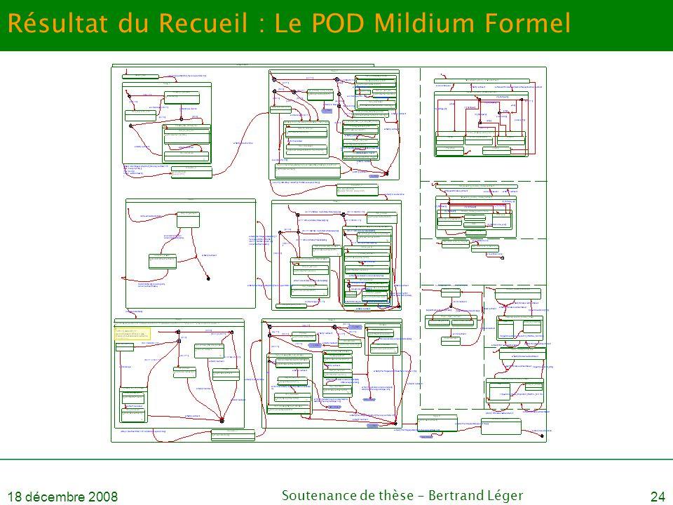 Résultat du Recueil : Le POD Mildium Formel