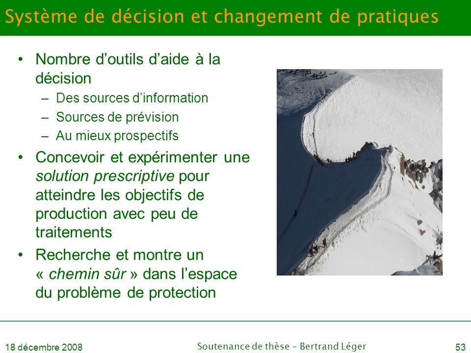 Système de décision et changement de pratiques