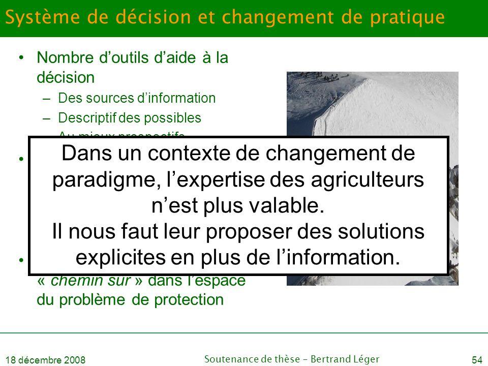 Système de décision et changement de pratique