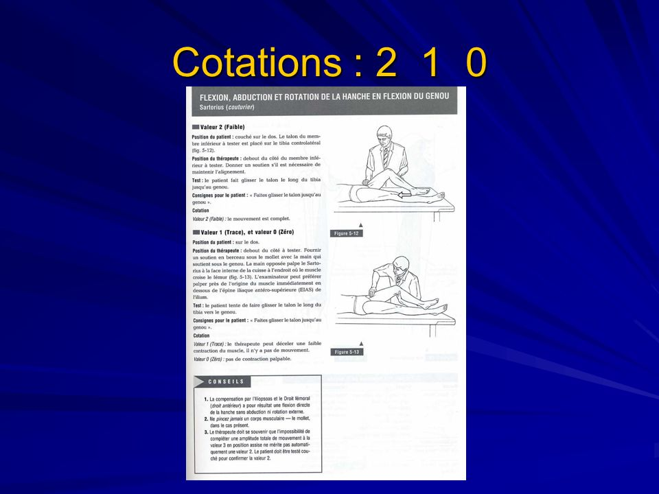 Cotations : 2 1 0