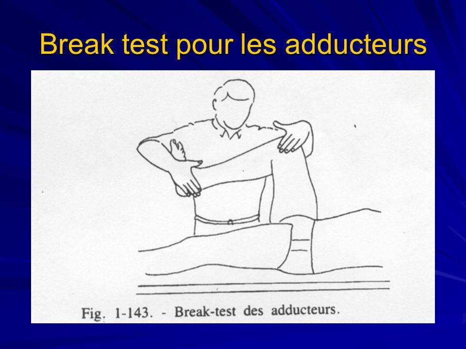 Break test pour les adducteurs