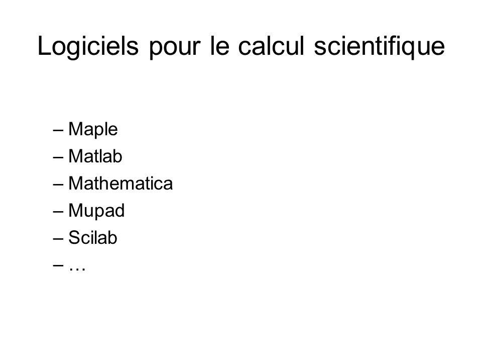 Logiciels pour le calcul scientifique