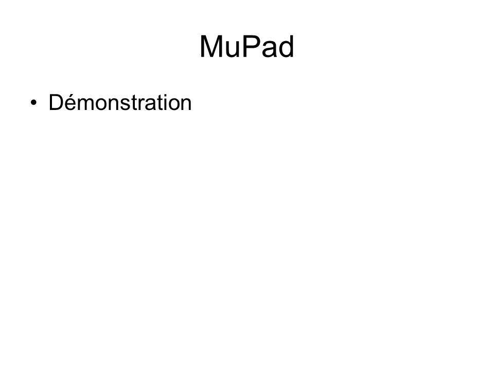 MuPad Démonstration
