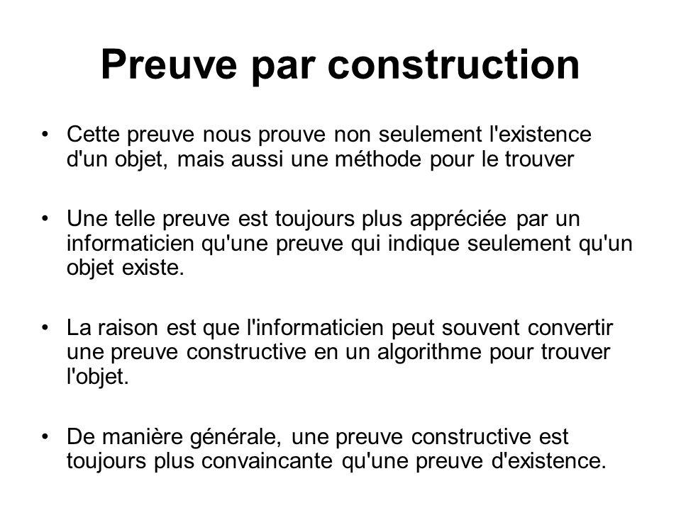 Preuve par construction