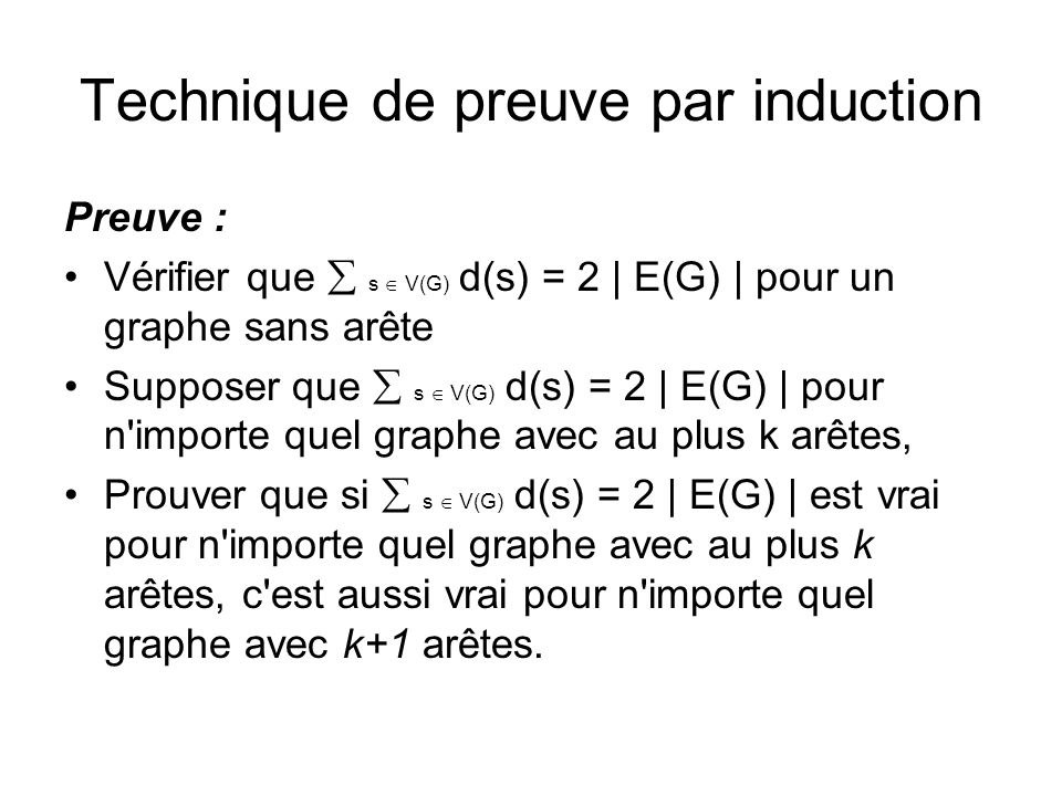 Technique de preuve par induction