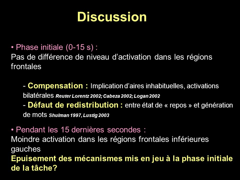 Discussion Phase initiale (0-15 s) :