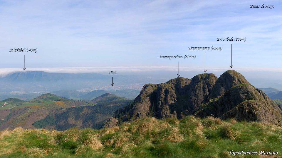 . Peñas de Haya Erroilbide (836m) Txurrumurru (826m) Jaizkibel (543m)