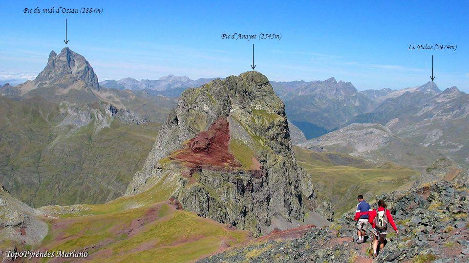 . Pic du midi d'Ossau (2884m) Pic d'Anayet (2545m) Le Palas (2974m) .