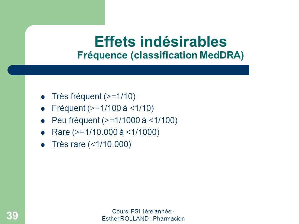 Effets indésirables Fréquence (classification MedDRA)