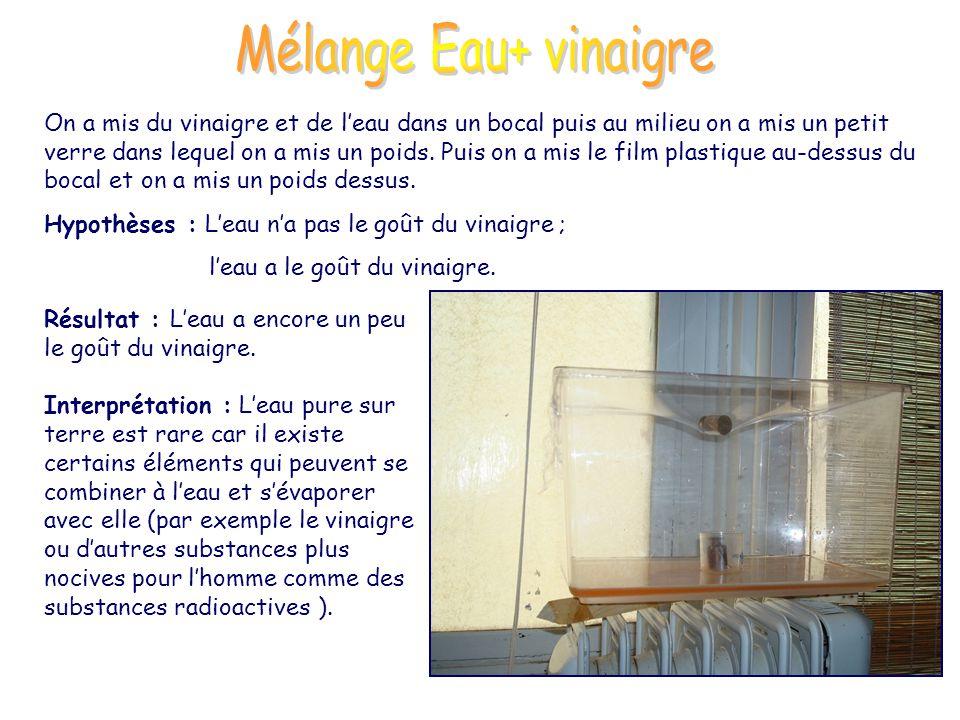 Mélange Eau+ vinaigre