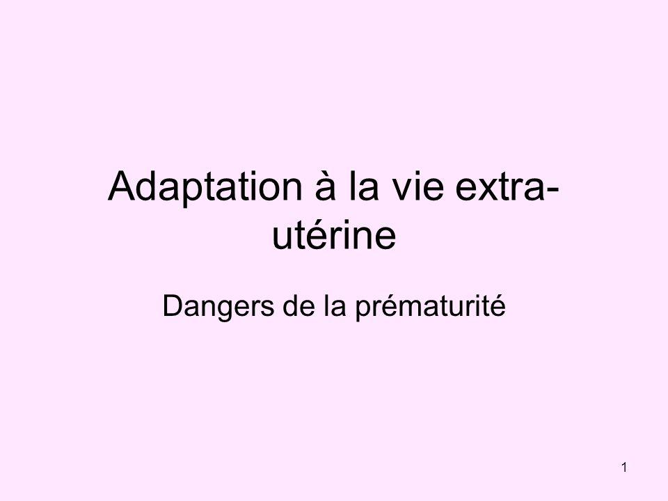 Adaptation à la vie extra-utérine