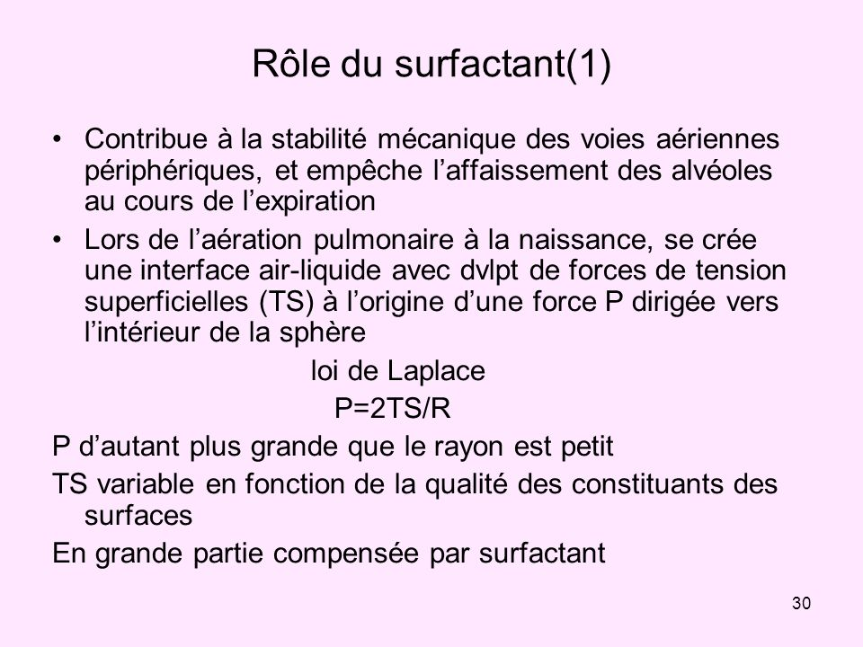 Rôle du surfactant(1)