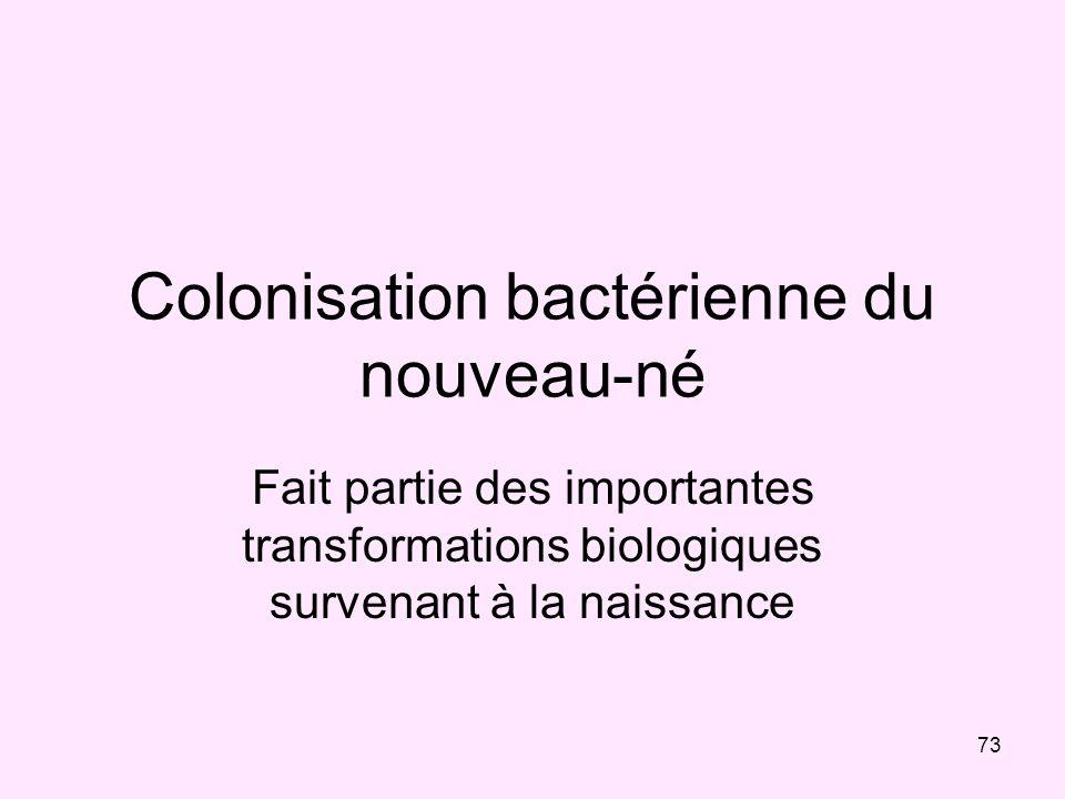 Colonisation bactérienne du nouveau-né