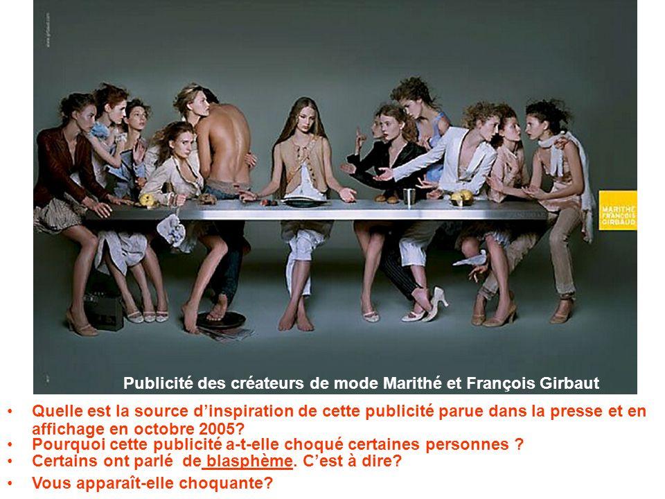 Publicité des créateurs de mode Marithé et François Girbaut