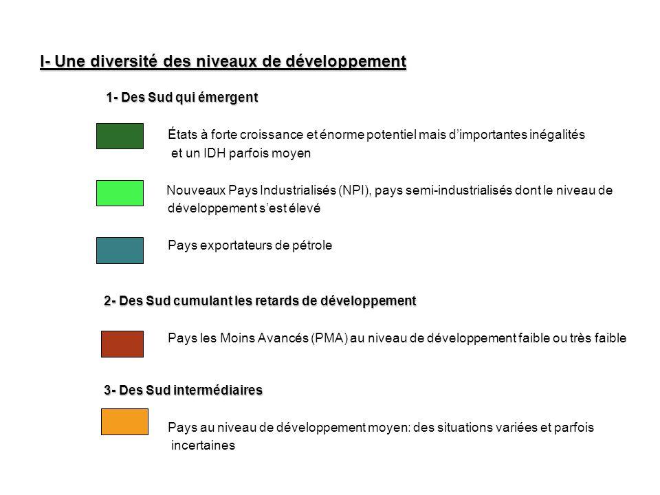 I- Une diversité des niveaux de développement