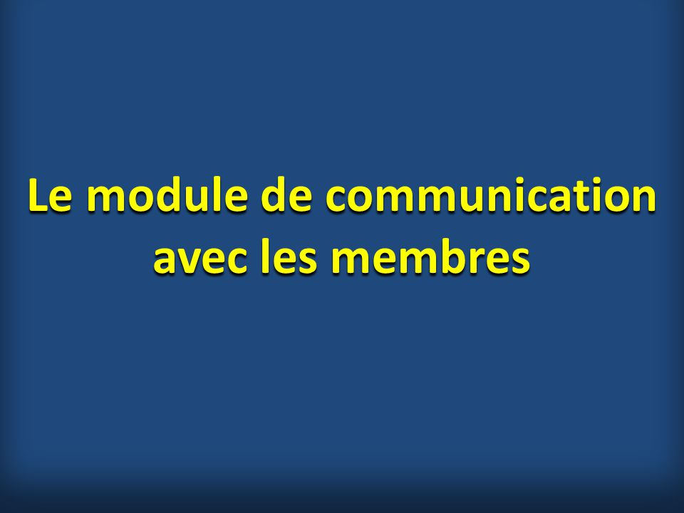 Le module de communication