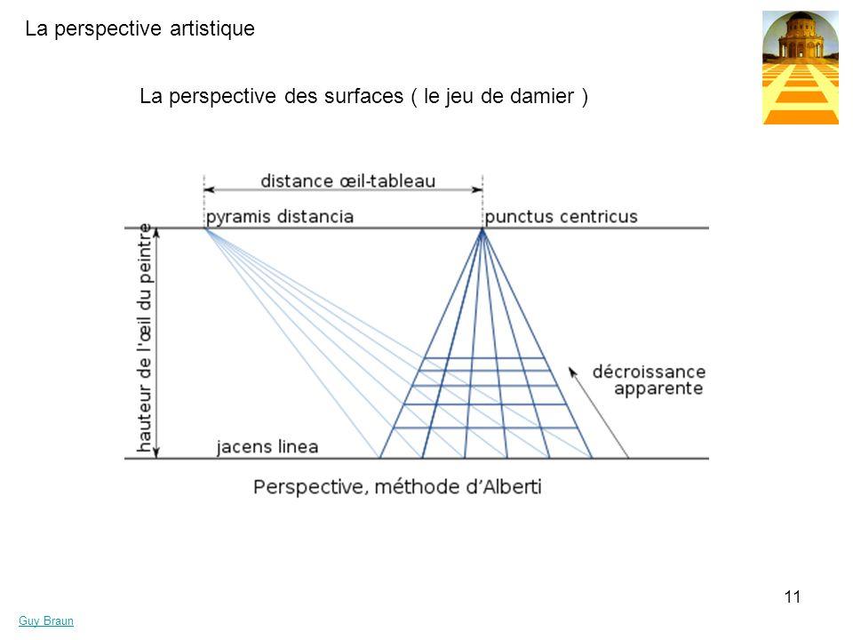 La perspective des surfaces ( le jeu de damier )
