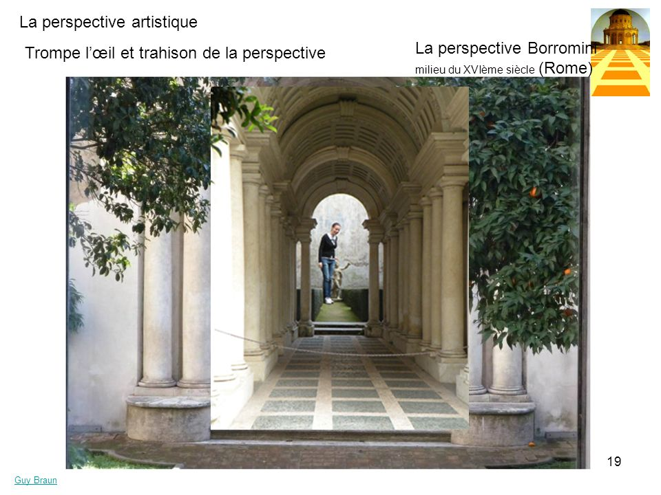 La perspective Borromini milieu du XVIème siècle (Rome)