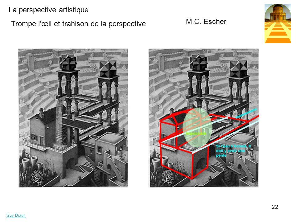M.C. Escher Trompe l'œil et trahison de la perspective