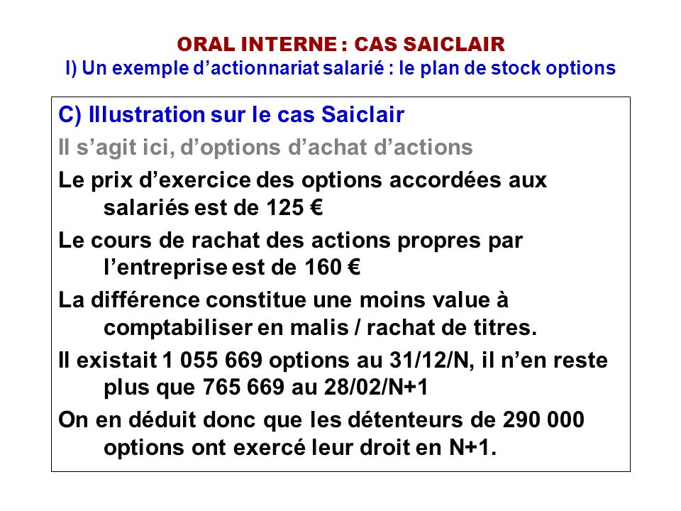 C) Illustration sur le cas Saiclair