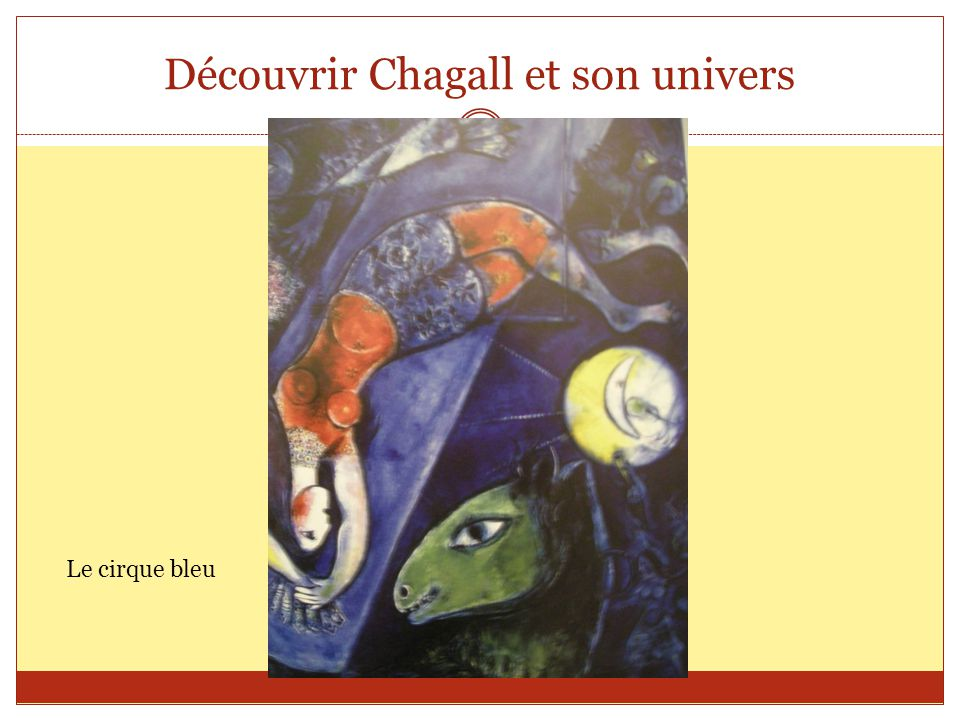Découvrir Chagall et son univers