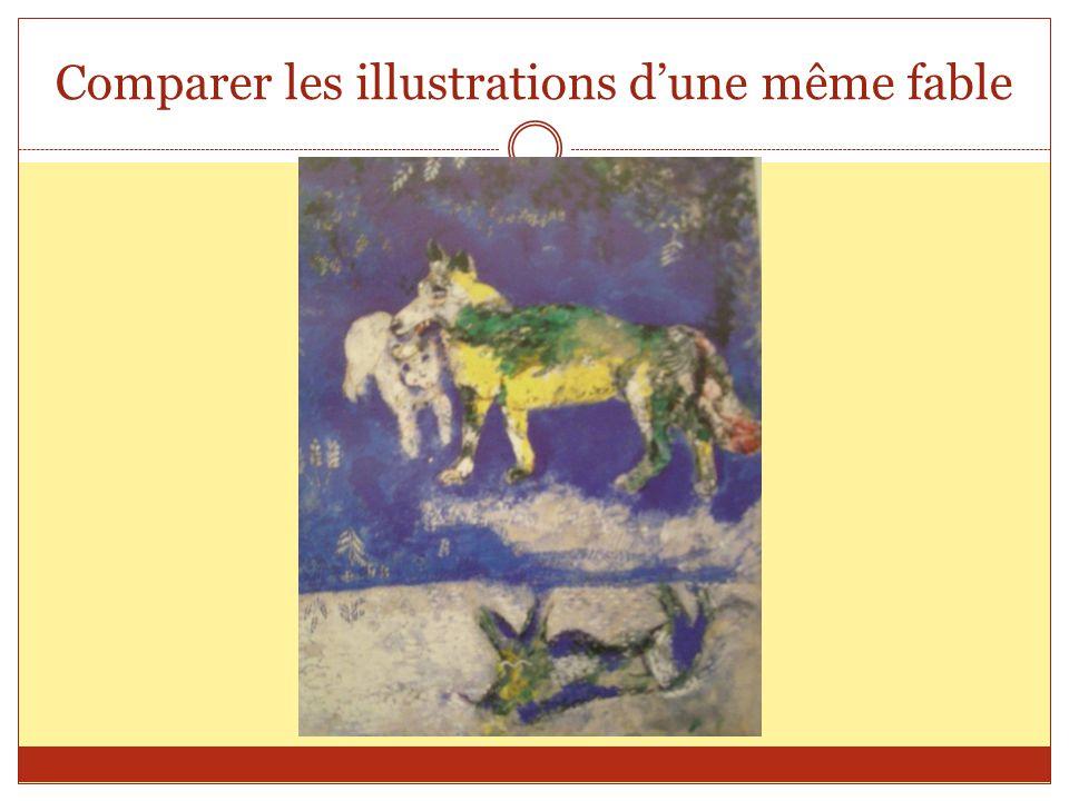 Comparer les illustrations d'une même fable