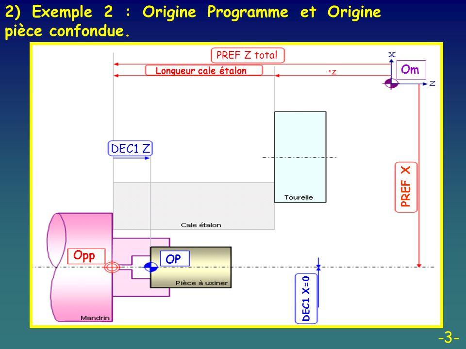 2) Exemple 2 : Origine Programme et Origine pièce confondue.