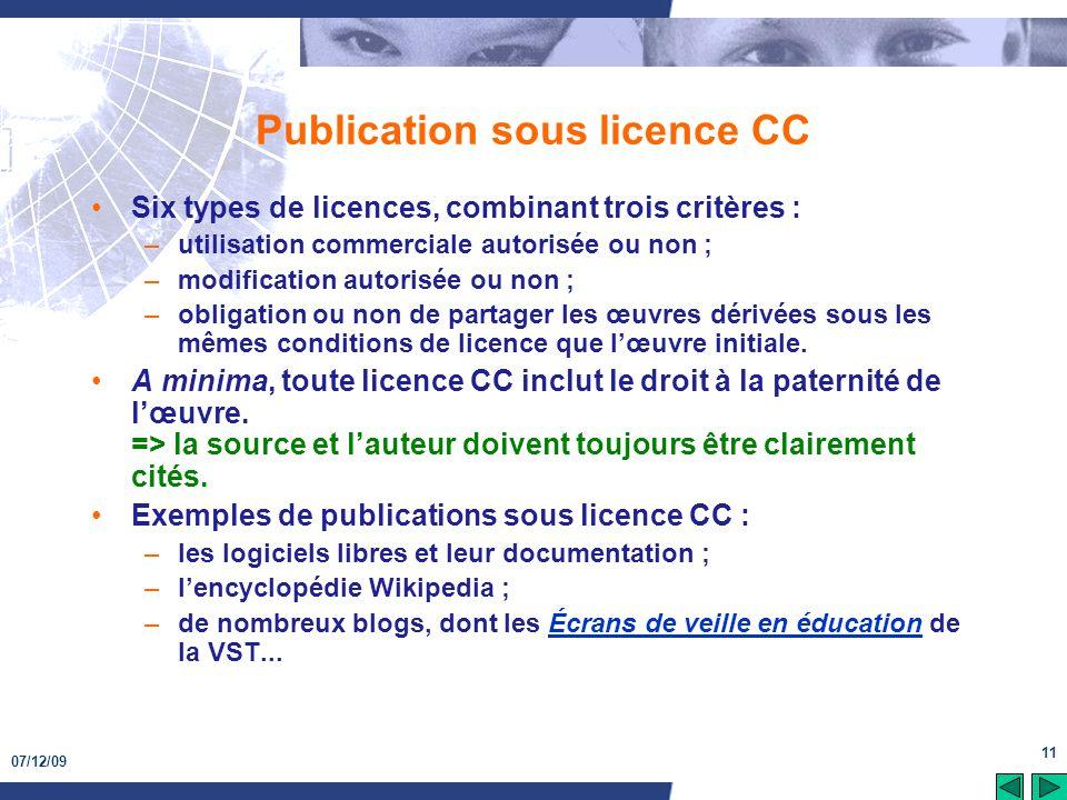 Publication sous licence CC