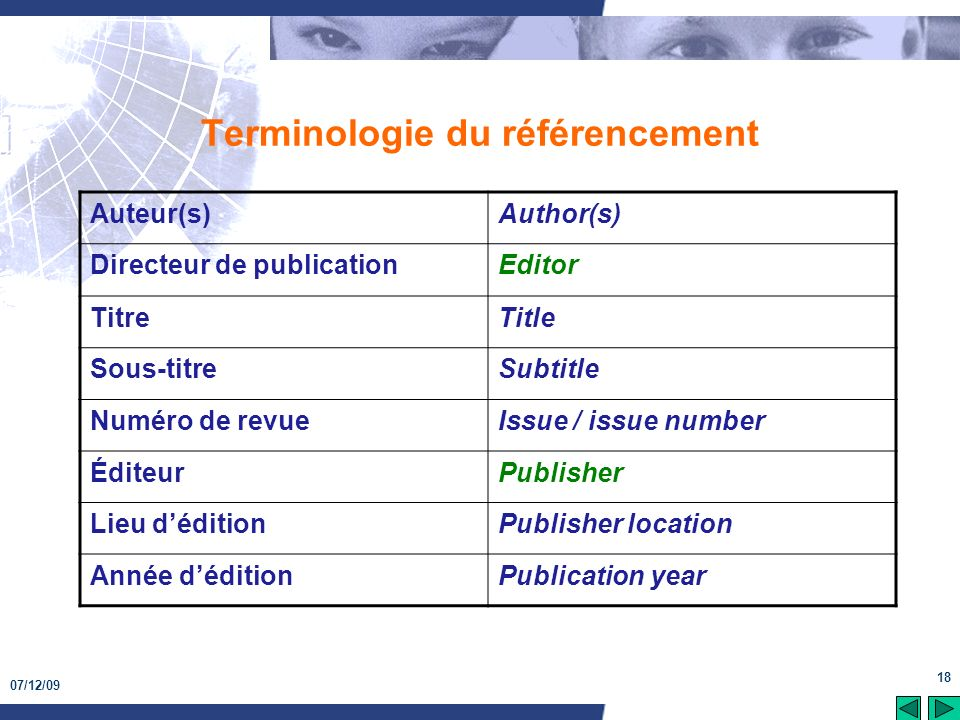 Terminologie du référencement