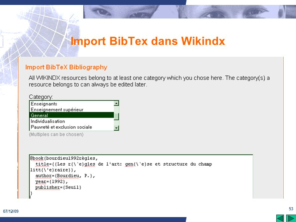 Import BibTex dans Wikindx
