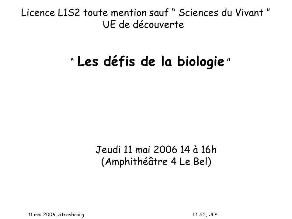Licence L1S2 toute mention sauf Sciences du Vivant