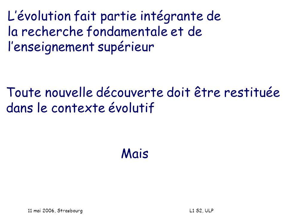 L'évolution fait partie intégrante de la recherche fondamentale et de