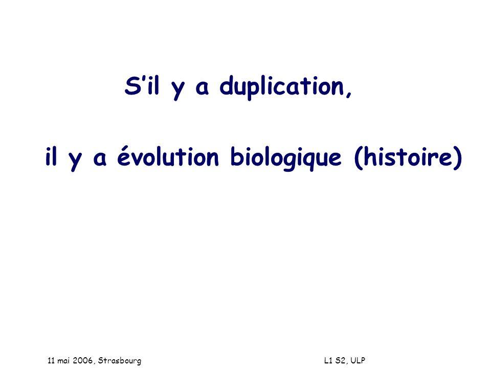 il y a évolution biologique (histoire)