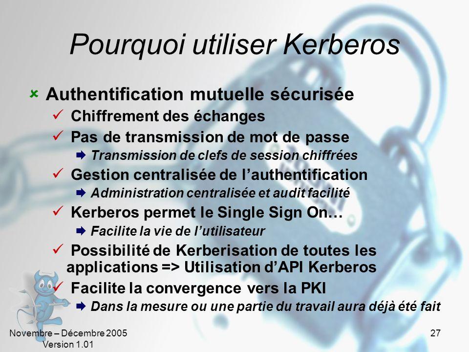 Pourquoi utiliser Kerberos