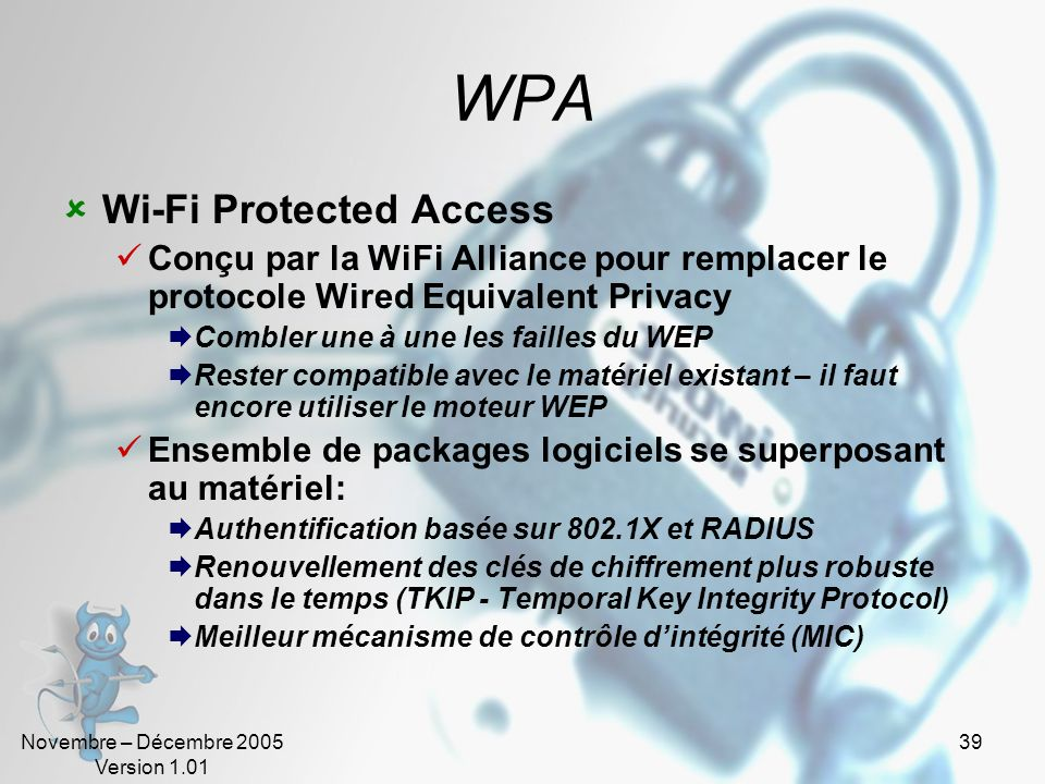 WPA Wi-Fi Protected Access